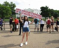 Protesta contro agricoltura animale Fotografia Stock Libera da Diritti