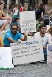 Protesta contro i bassi tagliati, Oporto Fotografia Stock Libera da Diritti
