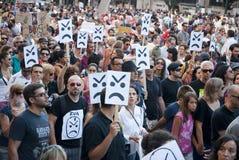 Protesta contro i tagli di governo, Oporto Immagine Stock