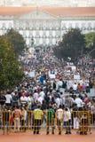 Protesta contro i tagli di governo, Oporto Fotografia Stock