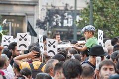 Protesta contro i tagli di governo, Oporto Fotografia Stock Libera da Diritti