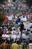 Protesta contro i tagli di governo, Oporto Immagine Stock Libera da Diritti
