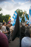 Protesta contro il governo dell'Ecuador Fotografia Stock Libera da Diritti