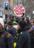 Protesta contro razzismo Immagini Stock