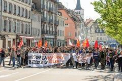 Protesta de abril contra reformas del trabajo en Francia Fotografía de archivo