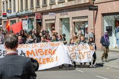 Protesta de abril contra reformas del trabajo en Francia Fotos de archivo