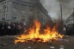 Protesta de ANTI-CUTS EN LONDRES Imágenes de archivo libres de regalías