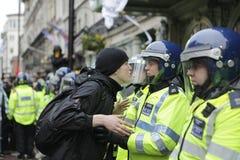 Protesta de ANTI-CUTS EN LONDRES Fotografía de archivo
