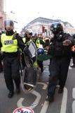 Protesta de ANTI-CUTS EN LONDRES Fotografía de archivo libre de regalías
