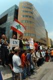Protesta de Anti-Israel en Beirut Fotos de archivo libres de regalías
