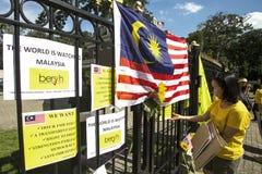 Protesta de Bersih Foto de archivo libre de regalías