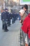 Protesta de Bucarest Fotos de archivo libres de regalías