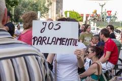 Protesta de Bucarest Imágenes de archivo libres de regalías