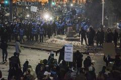 Protesta de Bucarest contra el gobierno Imagen de archivo libre de regalías