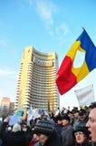 Protesta de Bucarest - cuadrado 10 de la universidad Fotografía de archivo libre de regalías