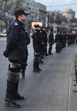 Protesta de Bucarest - cuadrado 15 de la universidad Imágenes de archivo libres de regalías