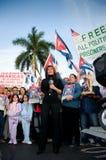 Protesta de Calle 8 Miami Fotos de archivo libres de regalías