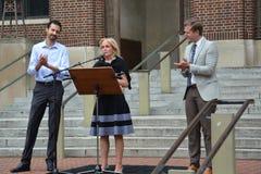 Protesta de Charlottesville en Ann Arbor - Dingell Foto de archivo