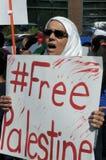 Protesta de Gaza Imágenes de archivo libres de regalías