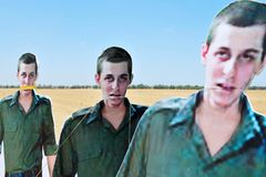 Protesta de Gilad Shalit Imagenes de archivo