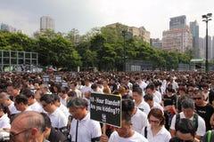 Protesta de Hong-Kong sobre muertes del rehén de Manila Foto de archivo