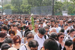 Protesta de Hong-Kong sobre muertes del rehén de Manila Fotos de archivo