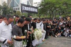 Protesta de Hong-Kong sobre muertes del rehén de Manila Imagenes de archivo