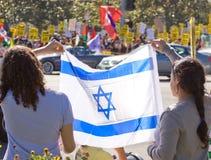 Protesta de Israel Palestenian Imagen de archivo libre de regalías