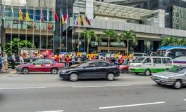 Protesta de Kuala Lumpur Employees magnífico del milenio ' Foto de archivo