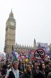 Protesta de la austeridad de Londres Imagen de archivo