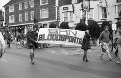 Protesta de la caza de Fox, Inglaterra Foto de archivo