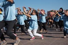 protesta de la danza de la Flash-multitud Fotografía de archivo