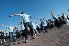 protesta de la danza de la Flash-multitud Fotografía de archivo libre de regalías