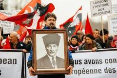 Protesta de la diáspora del armenio y de Turquía Fotos de archivo libres de regalías