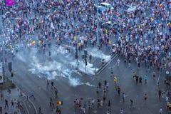 Protesta de la diáspora en Bucarest contra el gobierno Imagenes de archivo