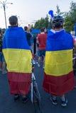 Protesta de la diáspora en Bucarest contra el gobierno Fotos de archivo libres de regalías