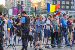 Protesta de la diáspora en Bucarest contra el gobierno Fotografía de archivo libre de regalías