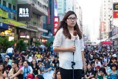 protesta de la Favorable-democracia en Hong Kong 2014 Imagenes de archivo