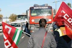 Protesta de la frontera. Imagenes de archivo