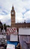 Protesta de la guerra. Fotografía de archivo libre de regalías