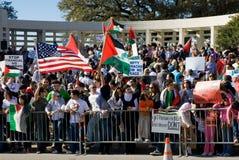 Protesta de la guerra de Peacefull Imagen de archivo