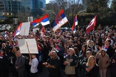 Protesta de la independencia de Kosovo Fotos de archivo libres de regalías
