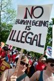 Protesta de la inmigración en la casa blanca Imagen de archivo libre de regalías
