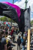 Protesta de la legalización de la droga, cáñamo marzo del mundo Fotografía de archivo