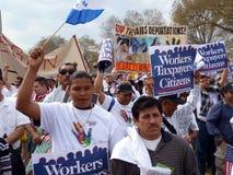 Protesta de la ley de la inmigración en la alameda Imagen de archivo libre de regalías