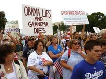 Protesta de la reforma del cuidado médico Imagen de archivo libre de regalías