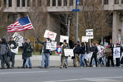 Protesta de la reserva federal de Philly Fotografía de archivo