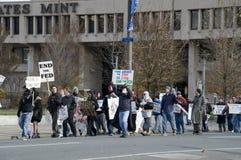 Protesta de la reserva federal de Philly Foto de archivo libre de regalías