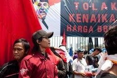 Protesta de la sociedad contra la subida del precio del petróleo Fotografía de archivo libre de regalías