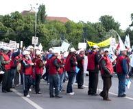 Protesta de la unión Fotografía de archivo